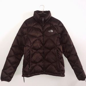 the north face brown puffer jacket